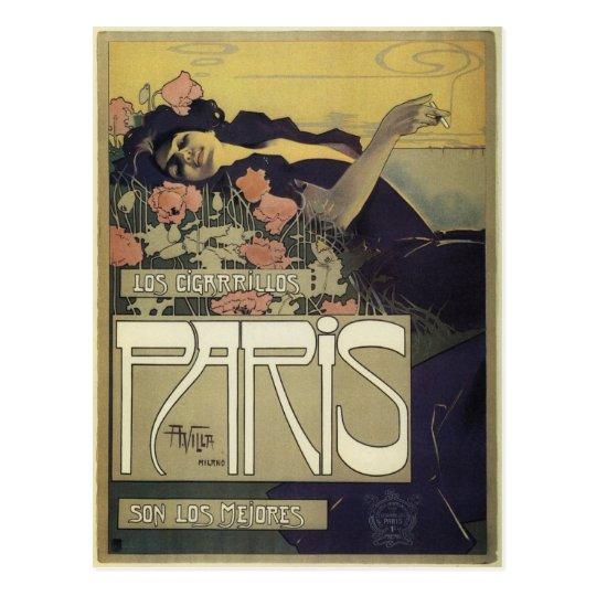 Postal Arte Nouveau de París del ~ del chalet de Aleardo