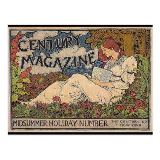 Postal Arte Nouveau - revista del siglo