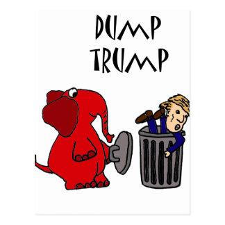 Postal Arte político del dibujo animado del triunfo