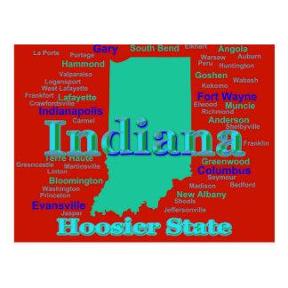 Postal Arte pop colorido del mapa del orgullo del estado