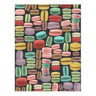 Postal Arte pop de Macarons del francés