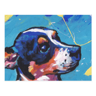 Postal Arte pop de Terrier de rata