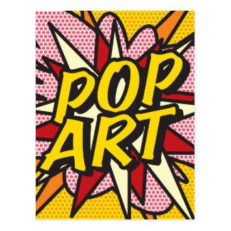 Postal ARTE POP del cómic