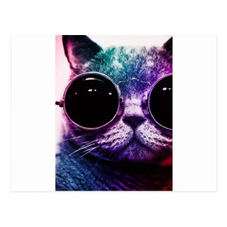 Postal Arte pop del gato del inconformista