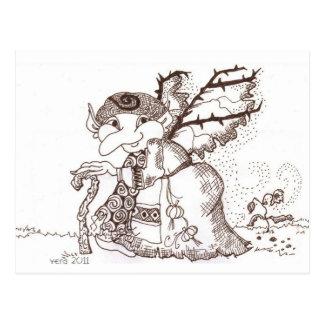 Postal Arte popular ucraniano del bizcocho borracho