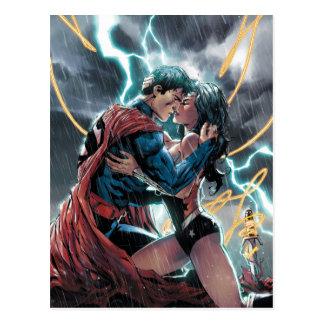 Postal Arte promocional cómico del superhombre/de la