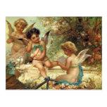 Postal Arte victoriano, ángeles músicos por Hans Zatzka