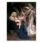 Postal Arte victoriano vintage, canción de los ángeles, B
