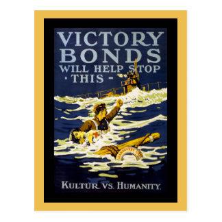 Postal Arte WWI del poster
