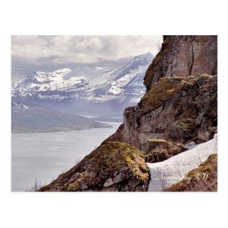 Postal ártica de la roca
