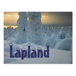 Postal ártica del invierno de Laponia