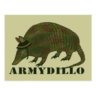 Postal Artículo del armadillo del ejército