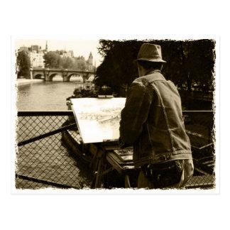 Postal Artista at the en París, France Sus river