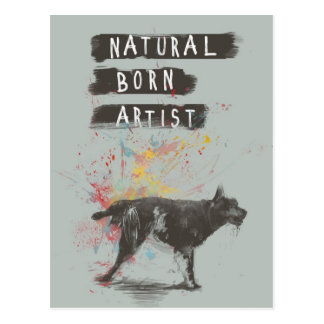 Postal artista llevado natural
