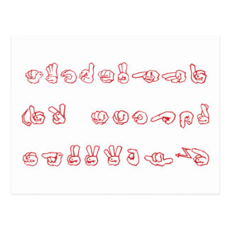 Postal ASL ningún L rojo para el navidad