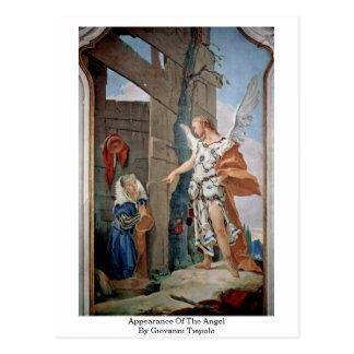 Postal Aspecto del ángel de Juan Tiepolo