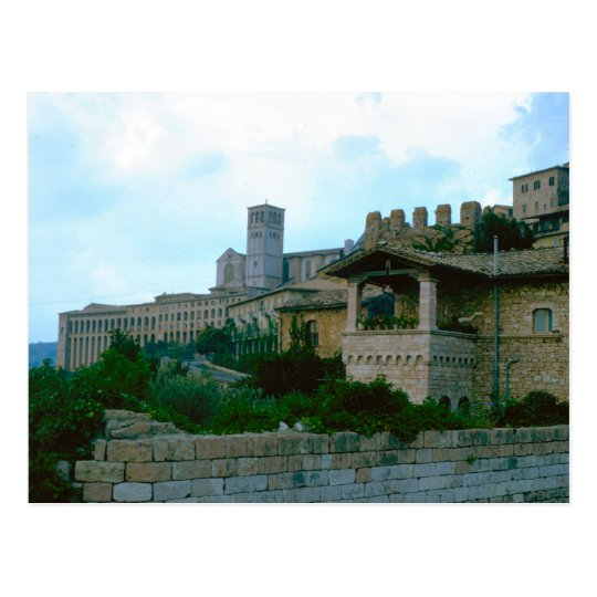 Postal Assisi, basílica superior