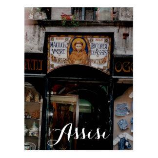 Postal Assisi Umbría Italia