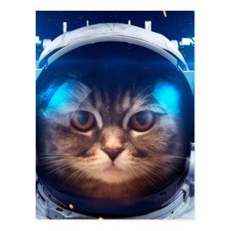 Postal Astronauta del gato - gatos en espacio - espacio