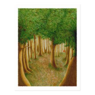Postal astuta del bosque