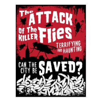 Postal ¡Ataque de las moscas!