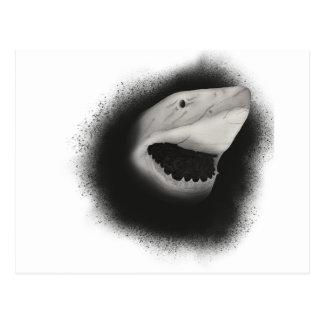 Postal Ataque entintado del tiburón