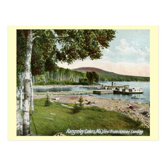 Postal Aterrizaje de Haines, vintage de los lagos