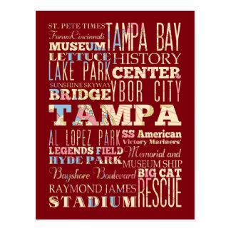 Postal Atracciones y lugares famosos de Tampa, la Florida