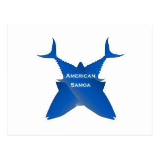 Postal Atún de American Samoa (azul)