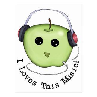 Postal Auriculares verdes de Apple