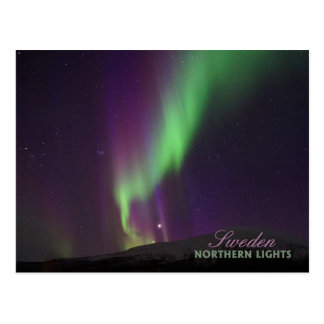Postal Aurora boreal en Lappland, Suecia