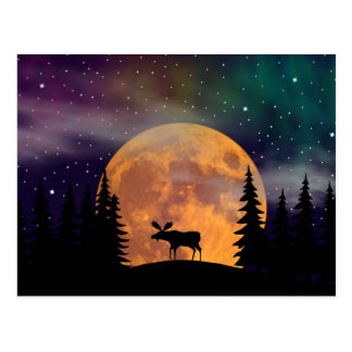 Postal Aurora boreal septentrional de las noches