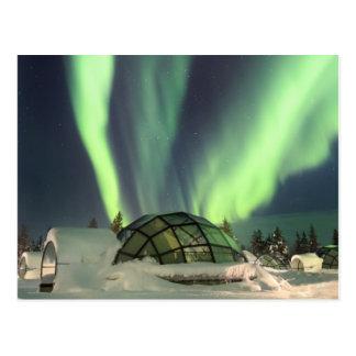 Postal Aurora boreal sobre Finlandia