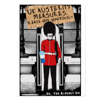 Postal Austeridad BRITÁNICA. Dé por favor abundante…