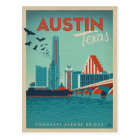 Postal Austin, TX - puente de la avenida del congreso