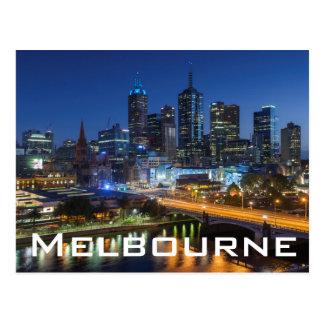 Postal Australia, Victoria, Melbourne, horizonte con