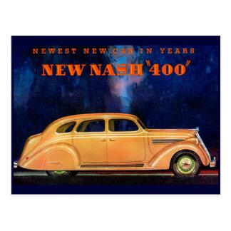 Postal Automóvil del vintage del ~ de Nash 400/anuncio