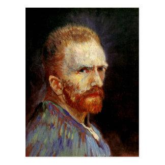 Postal Autorretrato, bella arte de Vincent van Gogh