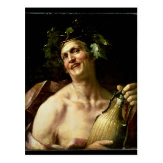 Postal Autorretrato como Bacchus