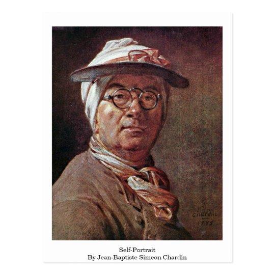 Postal Autorretrato de Jean-Baptiste Simeon Chardin