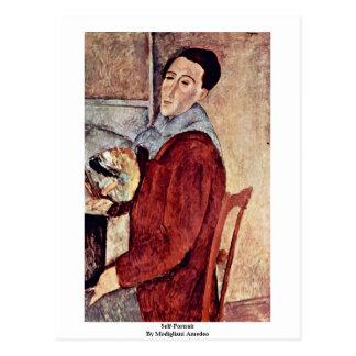 Postal Autorretrato de Modigliani Amedeo