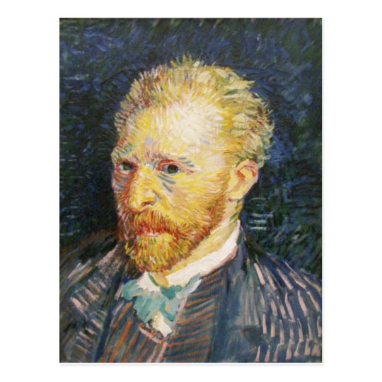 Postal Autorretrato de Vincent van Gogh
