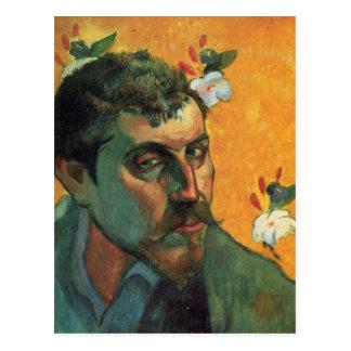 Postal Autorretrato - Paul Gauguin