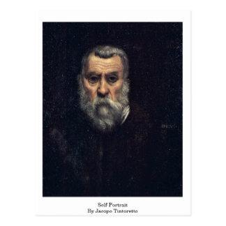Postal Autorretrato. Por Jacopo Tintoretto