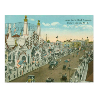 Postal Avenida de la resaca de Luna Park