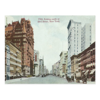 Postal Avenida de New York City del vintage 5ta