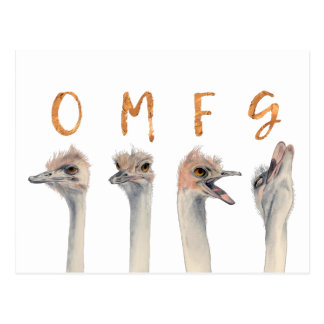 Postal Avestruces de OMFG