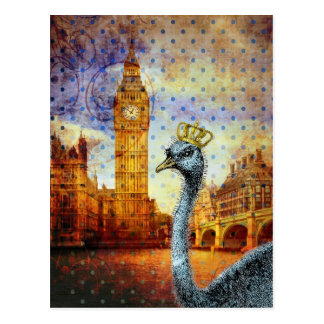 Postal Avestruz real en Londres