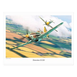 "Postal Aviation Art Postcard ""Dewoitine D.520"""