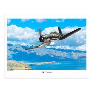 "Postal Aviation Art Postcard ""F4U Corsair"""